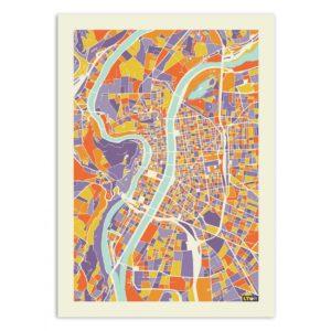Lyon – Affiche 30 X 40
