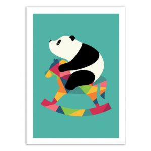 Panda – Rock on – Affiche 30 X 40