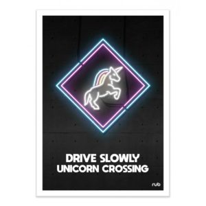 Unicorn crossing – Affiche 30 X 40
