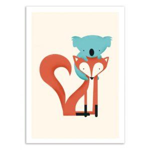 Renard et koala – Affiche 30 X 40