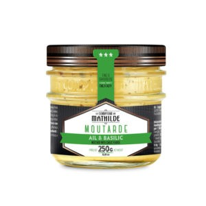 Moutarde – Ail & basilic 250g