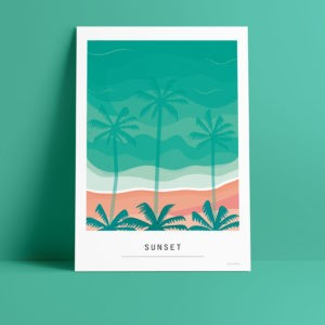 Carte A6 – Sunset
