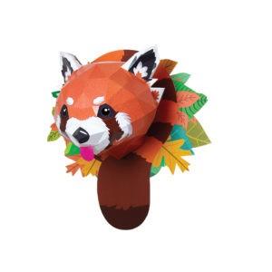 Panda roux en papier