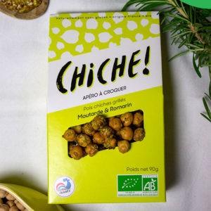 Croustiche – Pois chiches grillés à la moutarde et romarin