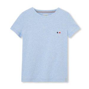 Blanche – T-shirt vélo bleu