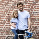 Bertin – T-shirt vélo bleu clair