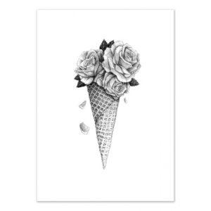 Flower ice cream – Affiche 30 X 40