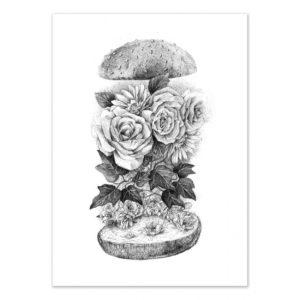 Flower burger – Affiche 30 X 40