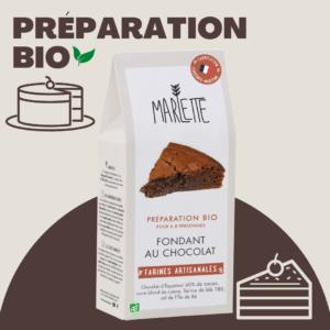 Préparation pour fondant au chocolat