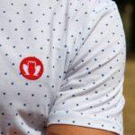 T-shirt BIO – Blanc à pois